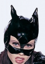 Women Hero Bat Cosplay Stage Performance Leather Costume Black Head cover