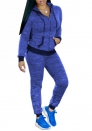 Women Fashion Front Zipper Hoodie Jacket and Long Pants 2 Piece Suit Training Suit
