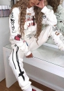 2020 Styles Women Fashion INS Styles Fashion Hoodie Two Pieces Set