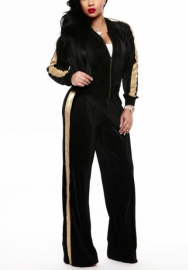 Women's Tracksuit 2 Piece Outfit Long Sleeve Zipper Jacket and Pants Set
