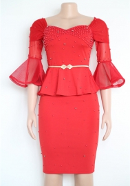 Women Fashion Beading Dress