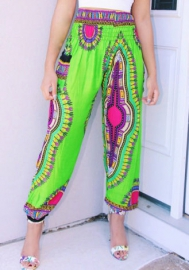 Women's Plus Size African Style Loose Casual Long Pants Leggings Trousers