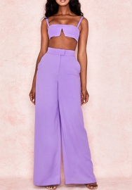 Women Sexy  Strap Bra Tops and Long Pants 2 Piece Suit