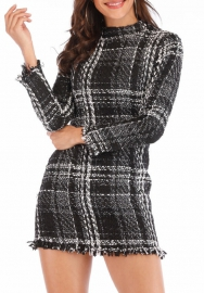 Women Fashion Sweater Classic Long Sleeve Mini Dress
