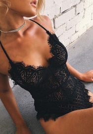 Women Sexy Lace Side Classic Teddies Lingerie
