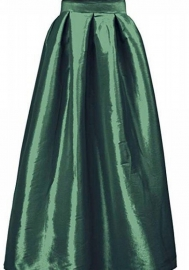 Women Fashion Solid Color Classic Maxi Skirts