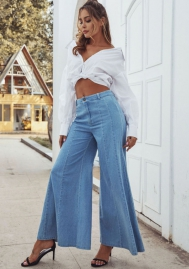 Women  Fashion Jeans Bottom Wide Long Pants