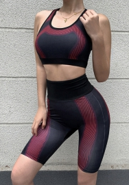 Women Fashion Strap Crop Tops and Midi Pants Tracksuit Suit