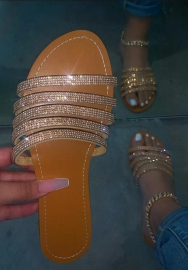 Women Fashion Slippers Golden