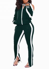 2020 Styles Women Fashion INS Styles Fashion Tracksuit Set Two Pieces Set