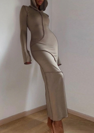 Women fashion Khaki Dress