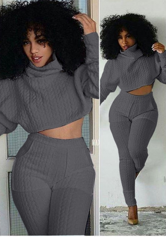Women's Casual Pullover Two Pieces Outfits Long Pants Jumpsuits Set